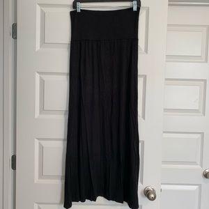 Stretchy, Soft, Black Maxi Skirt!